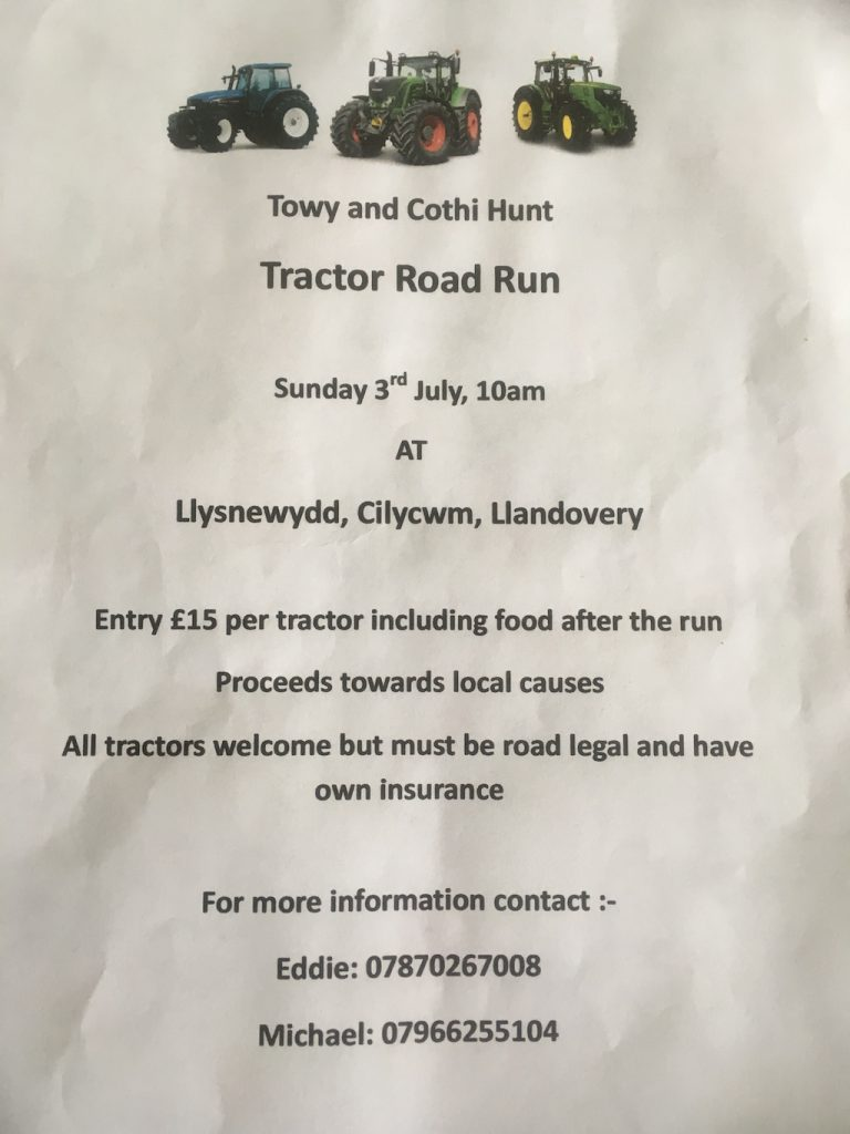 Towy and Cothi Hunt Tractor Road Run